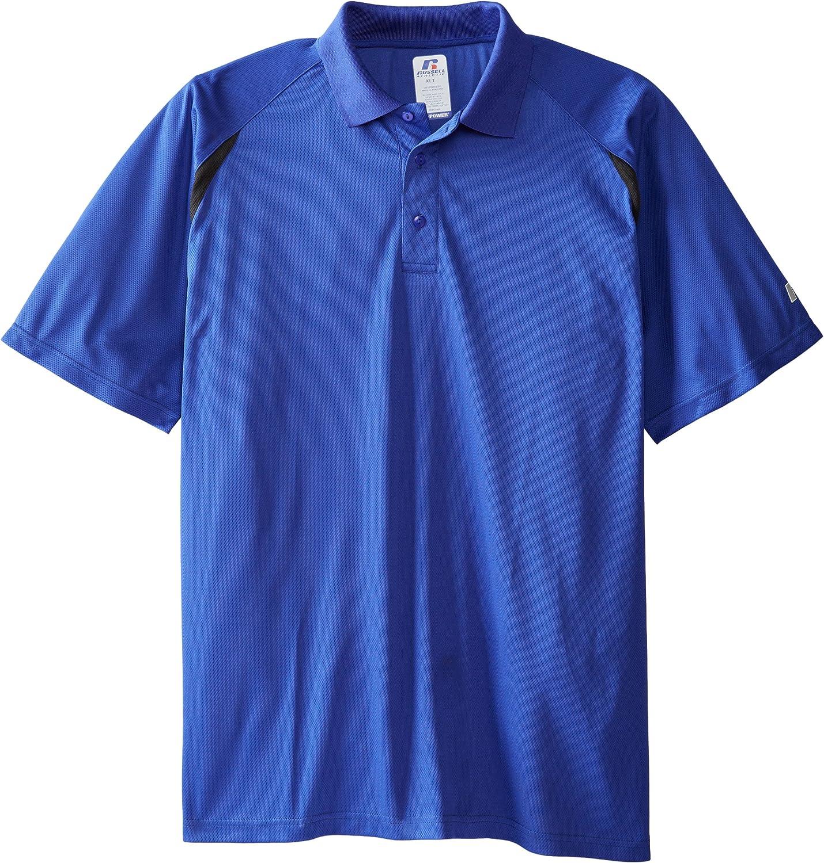 Russell Athletic Men's Big & Tall Dri Power Short-Sleeve Polo Shirt