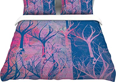 Kess InHouse Suzanne Carter Red Sky at Night Featherweight Queen Duvet Cover 88 x 88,