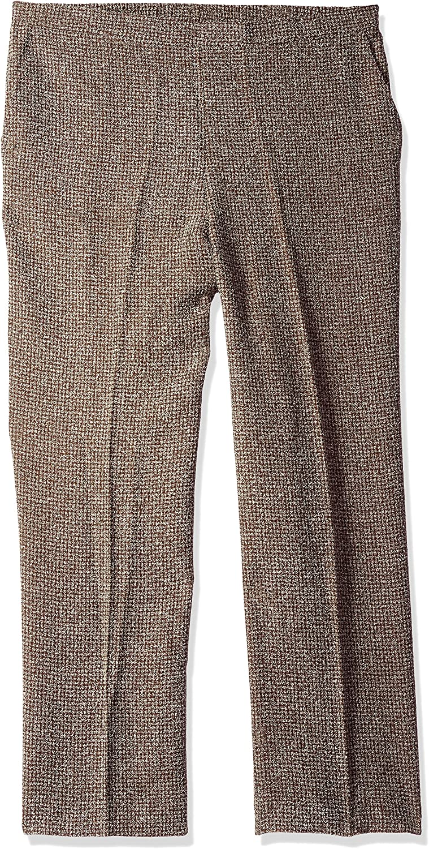 Alfred Dunner Womens Short Check Tweed Pant Pants