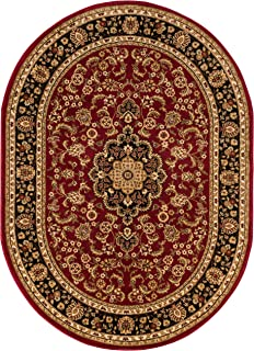 Well Woven Noble Medallion Red Persian Floral Oriental Formal Traditional Area Rug 7x10 (6'7