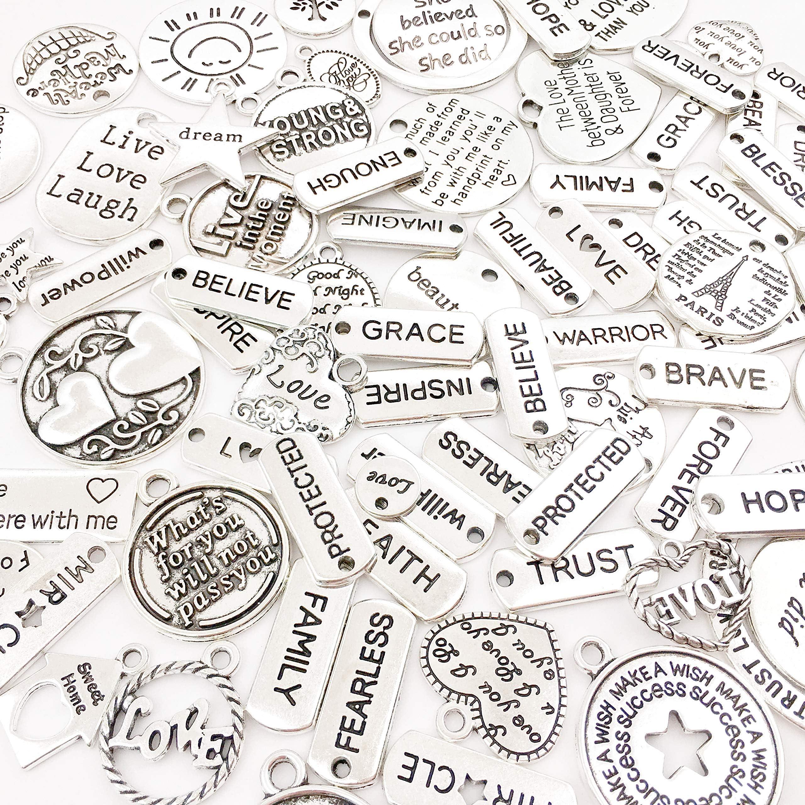Words Plate Alphabet Your are My Only Charms Pendants Zinc Alloy DIY Ornament Punk Charm Pendant Necklace 30pcs T672