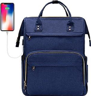 Sponsored Ad - ERIHOP Laptop Backpack for Women, 17 / 17.3 Inch Laptop Bag with Many Pockets, Fashion Backpack Purse, Work...
