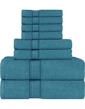 Juego de 6 toallas de secado r/ápido 2 toallas de ba/ño y 4 toallas de mano Basics Azul/ón