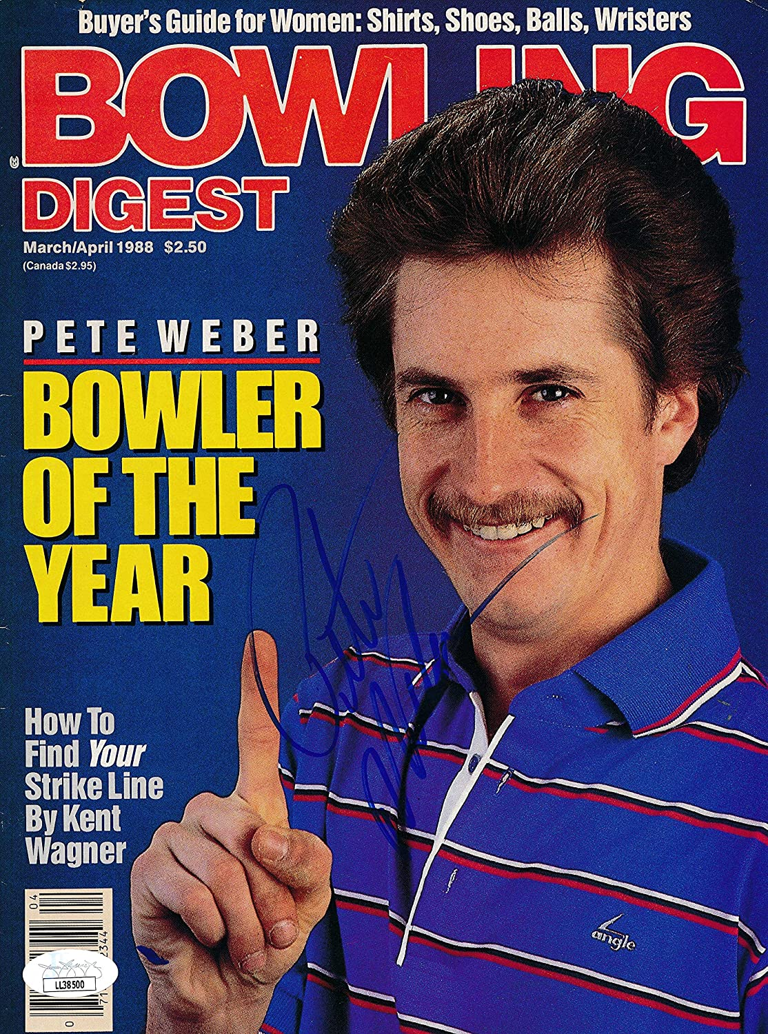 Pete Weber Bowler Signed Autographed J Bowling Tulsa Mall 1988 Cover Online limited product Digest