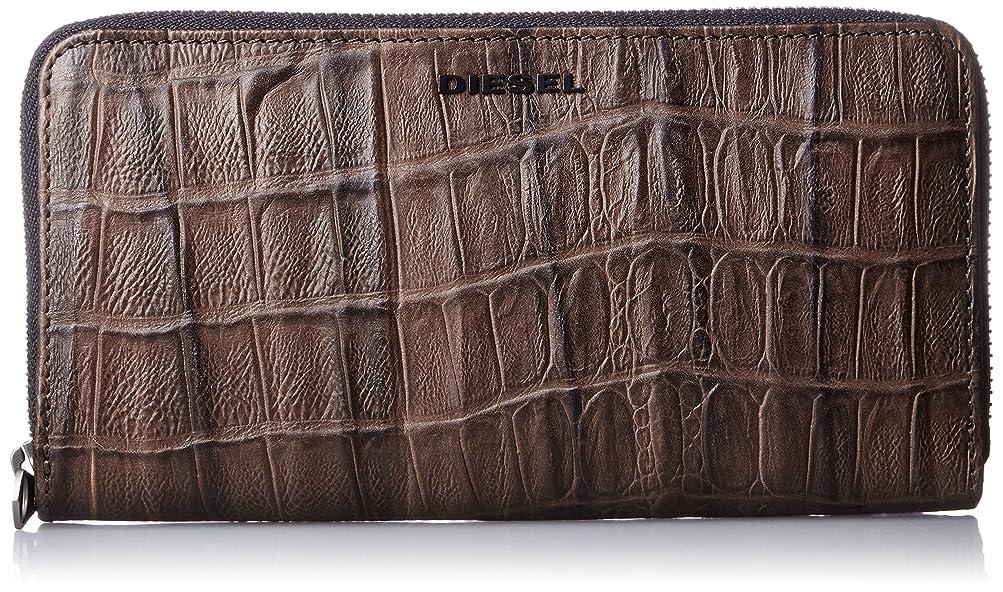 感心するアイデア気候の山(ディーゼル) DIESEL メンズ 財布 ジップ付き 長財布 型押しクロコウォレット X03903P0178