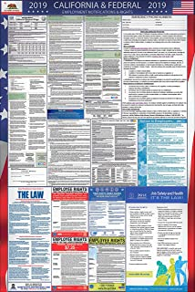 Laminated 2019 California and Federal Labor Law Poster