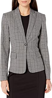 Calvin Klein Women's Plaid One Button Jacket