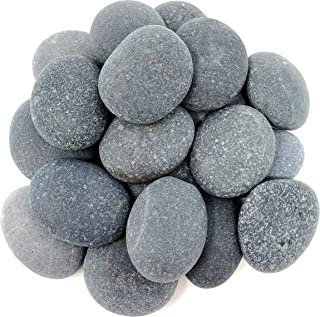 Capcouriers Rocks - River Rocks - Extremely Smooth Tiny Black Rocks - Rocks are About 1 inch in Length