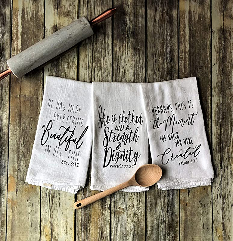 Woman Of God Inspired Set Of 3 Tea Towels