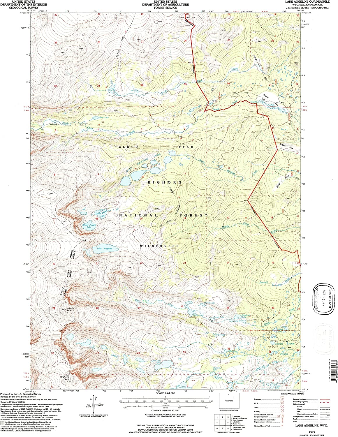 YellowMaps Lake Angeline WY topo Be New mail order super welcome map 7.5 X 1:24000 M Scale