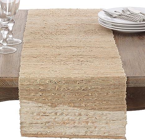 Table Runner Shibori Mod Geometric Retro Rustic Ikat Rustic Weave Cotton Sateen
