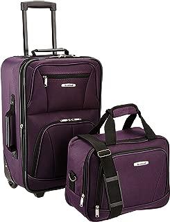 Fashion Softside Upright Luggage Set, Purple