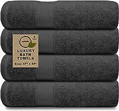 Softolle 100% Cotton Luxury Bath Towels - 600 GSM Cotton Towels for Bathroom - Set of 4 Bath Towel - Eco-Friendly, Super S...