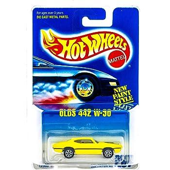 Hot Wheels Oldsmobile aurora 265 Blue Card 1991 Mattel 12358