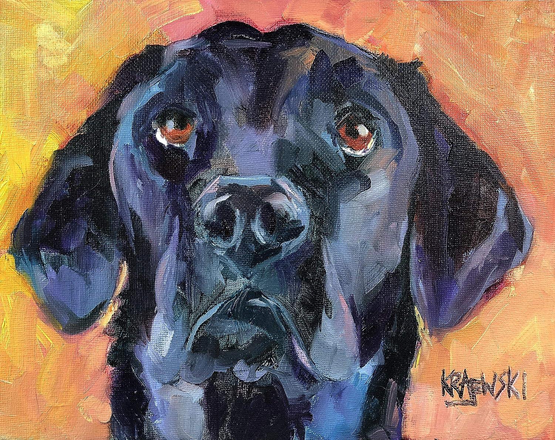 Black Labrador Retriever Art Safety Superlatite and trust Print Gifts Lab From Orig