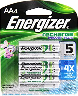 Energizer E2 Rechargeable AA Battery (2300 mAh), 1.2 Volt NiMH, 4 ct