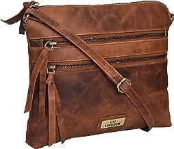 Genuine Leather Crossbody Handbag for Women - Shoulder bag for Womens Handmade by LEVOGUE