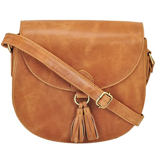 81d741a344a6 Leather Saddle Bag Cross Body Handmade Purse With Adjustable Shoulder Strap  For Women