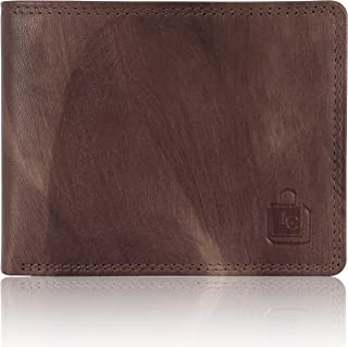 Le Craf Men's Genuine Leather RFID Blocking Wallet Brown Comes in a Gift Box