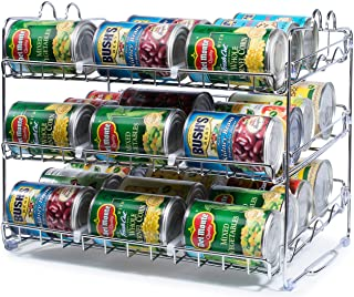 Stackable Can Rack Organizer, Storage for 36 cans – Great for the Pantry Shelf,..