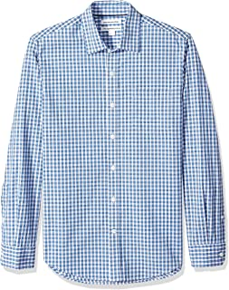 Amazon Essentials Men's Slim-Fit Long-Sleeve Check Shirt