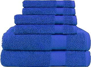 azul real Juego de toallas de uso diario de 6 piezas SweetNeedle