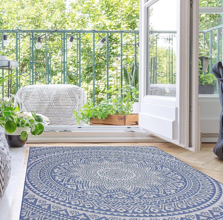 Indoor Outdoor Mandala Design 40%OFFの激安セール Hippie Denim 毎日激安特売で 営業中です Rug 5'3