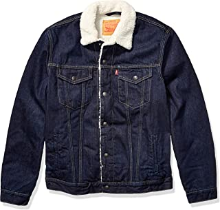 Levi's Men's Size Big & Tall Sherpa Trucker Jacket-Tall