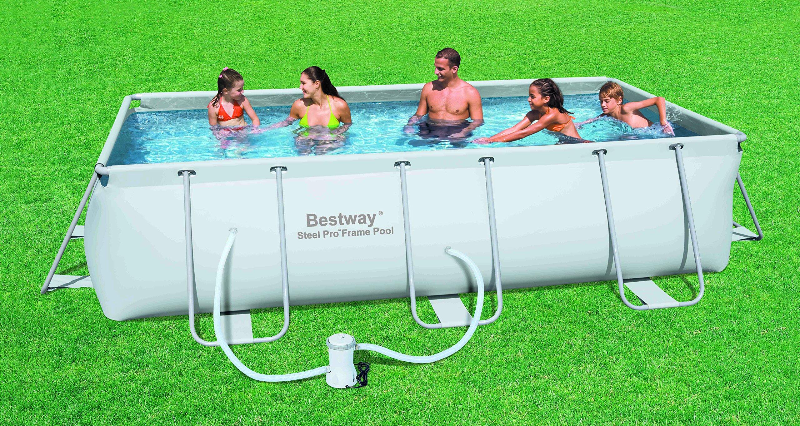 Bestway - Piscina Frame 404 x 201 x 100 cm + depuradora de ...