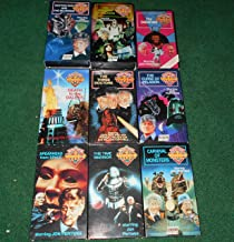 Doctor Who Jon Pertwee VHS Lot of 9 (Spearhead From Space, Silurians, Three Doctors, Time Warrior, Carnival of Monsters, Curse of Peladon, Daemons, Death to the Daleks, Monster of Peladon)
