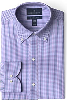 Amazon Brand - BUTTONED DOWN Men's Slim Fit Check Dress...