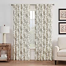 WAVERLY Lucchese Rod Pocket Single Panel Privacy Window Treatment Living Room, 52 in x 63 in, Fumo