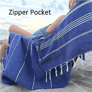beach towel with zipper pocket