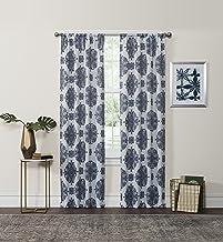 "ECLIPSE Blackout Curtains for Bedroom - Olivia 37"" x 63"" Insulated Darkening Single Panel Rod Pocket Window Treatment Livi..."