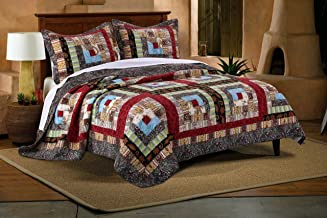 Greenland Home GL-1601CMSK Greenland Home 3 Piece Colorado Lodge Quilt Set, King