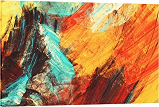 IslamicArtPoint Abstract Art Collection on Canvas (Multi Color Dynamic)