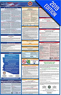 2019 Arizona Labor Law Poster – State, Federal, OSHA Compliant – Single Laminated Poster