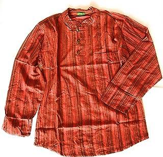 e8d4d8dfb1 Amazon.it: camicia etnica uomo - Arancione