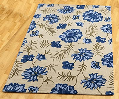 Blue Blossom Structure (5'x8') Rug