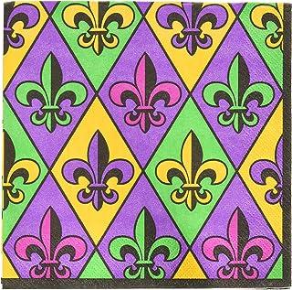 مناديل غداء فلور دي ليز 711902 من أمسكان، مقاس واحد، متعددة الألوان