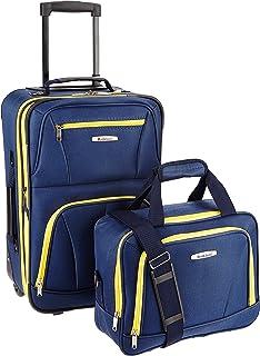 Fashion Softside Upright Luggage Set, Navy, 2-Piece (14/19)