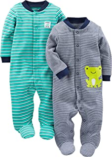 Baby Boys' 2-Pack Cotton Snap Footed Sleep and Play