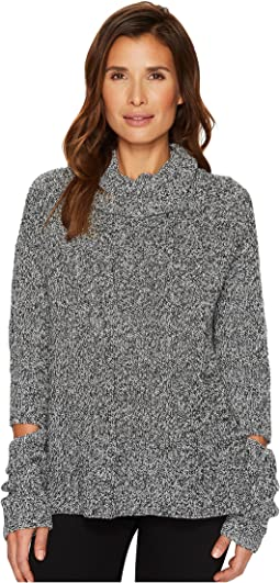 TWO by Vince Camuto - Long Sleeve Chunky Turtleneck with Sleeve Cut Outs