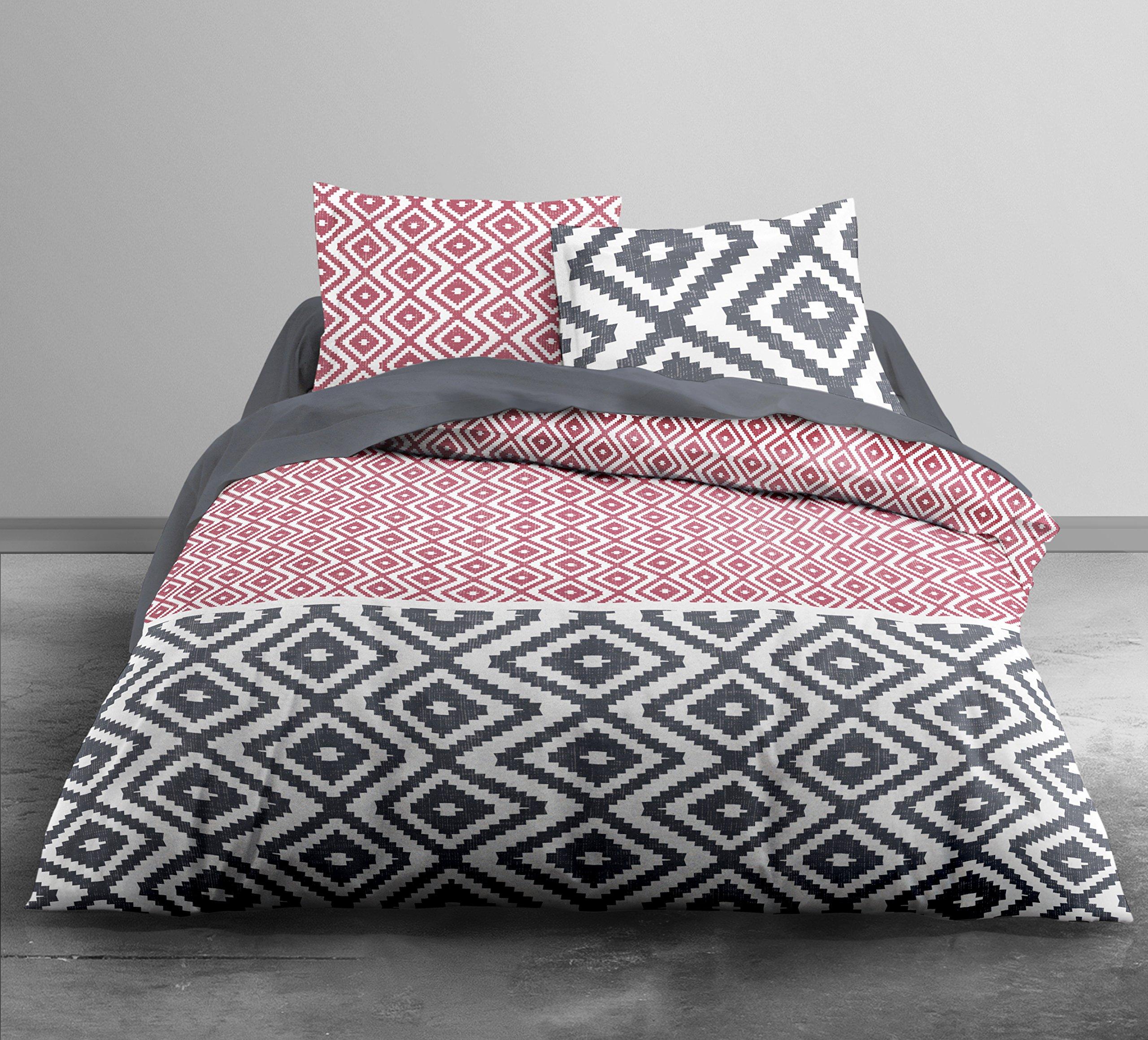Funda nórdica de Kami. 220 x 240 cm, dos fundas de almohada de 63 x 63 cm, 100 % algodón 57 hilos: Amazon.es: Hogar