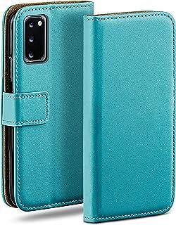 moex Klaphoes voor Samsung Galaxy S20 / S20 5G hoes inklapbaar, telefoonhoes met kaartenvak, 360 graden beschermhoes om te...