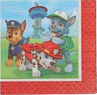 American Greetings Paw Patrol Party Supplies Disposable Paper Lunch Napkins, 16-Count