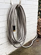 Benchmark Garden - 50' Stainless Steel Garden Hose - 304 Stainless Steel with Premium Brass Connectors - Lightweight, Rust Proof, Flexible and Kink-Free, and UV Resistant