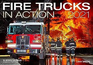 Fire Trucks in Action 2021: 16-Month Calendar - September 2020 through December 2021