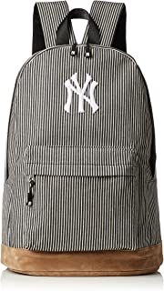MLB 帆布包 小型背包 包包 女款 男款 中性 男女通用 山核桃 棉 洋基 大容量 方便 上学用 上班 学生 成人 YK-MBBK13