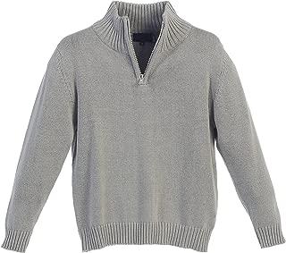 Boy's Knitted Half Zip 100% Cotton Sweater